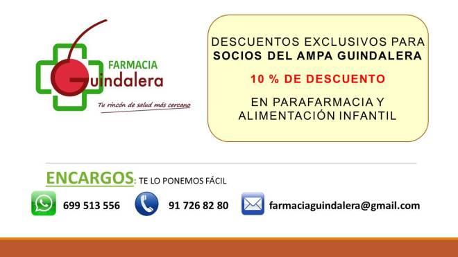 Ventajas socios AMPA_Farmacia Guindalera